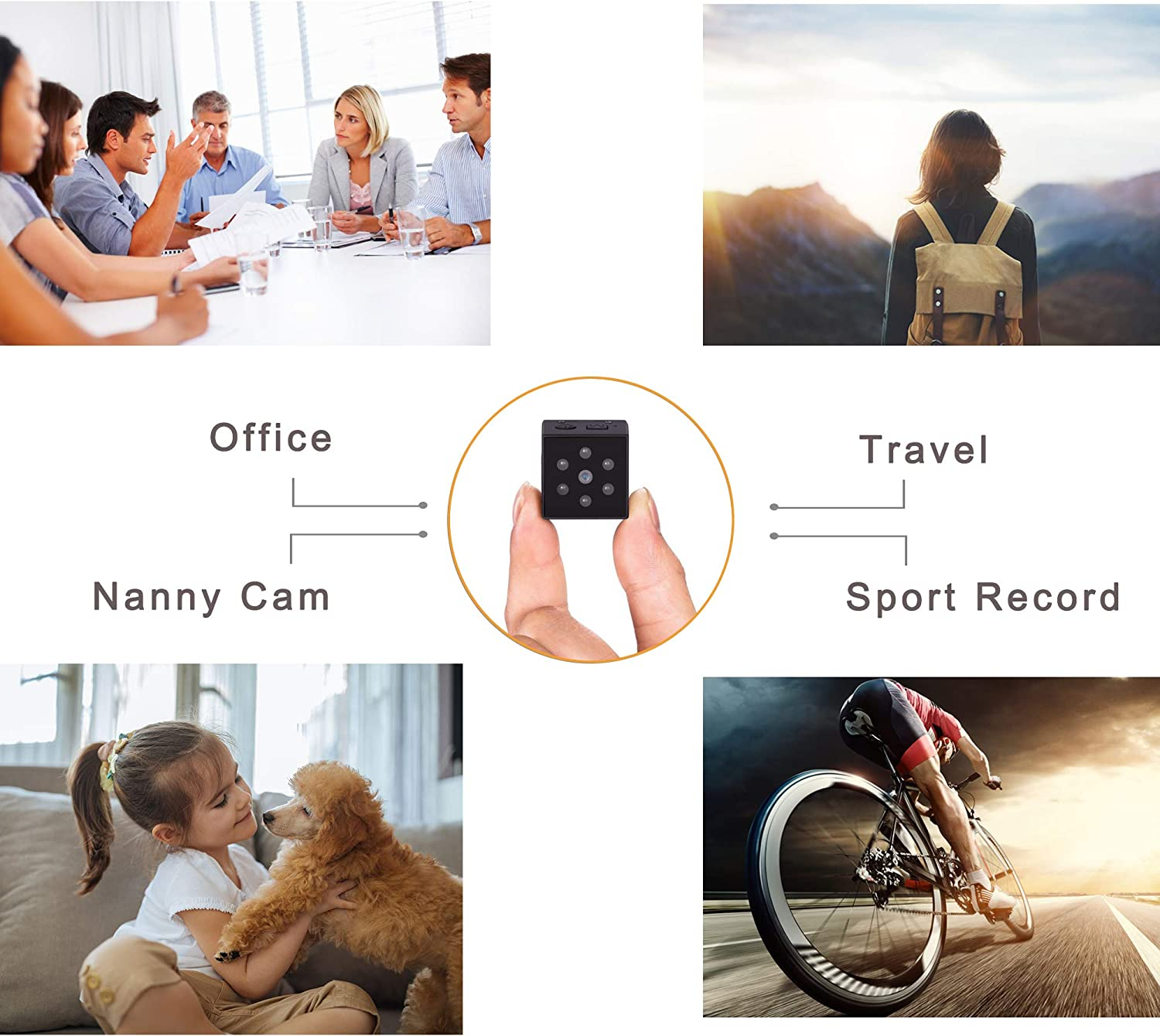 PELDA Hidden Camera,Mini Camera Home Secruity Spy Cam HD 1080P Portable Nanny Cam with Night Vision and Motion Detection for Baby/Elder/Pet Monitor Fit Indoor Outdoor Using
