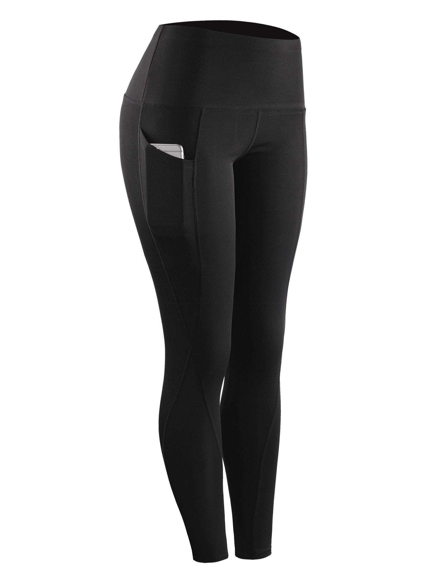 Neleus Tummy Control High Waist Running Workout Leggings,9017,One Piece,Black,S,EU M