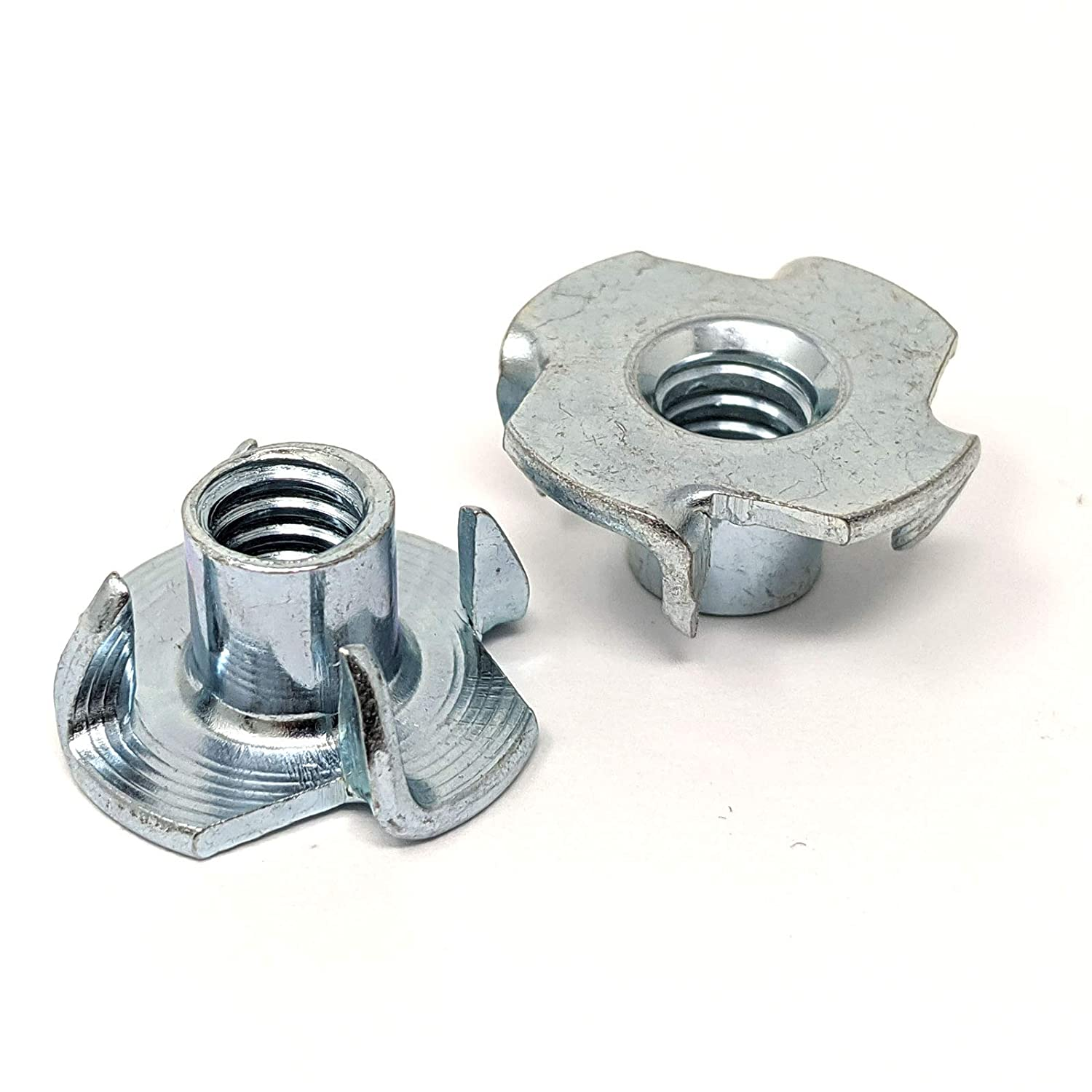 1//4-20 T-Nuts for Rock Climbing Holds Pronged Tee Nuts 5//16 Length 3//4 OD 25 pcs Wood Furniture /& Woodworking