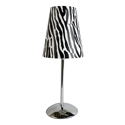 Limelights mini silver table lamp with animal print shade zebra limelights mini silver table lamp with animal print shade zebra mozeypictures Gallery