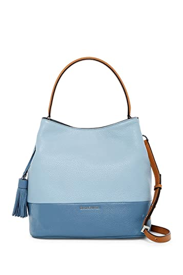 b1264c241f1b MICHAEL Michael Kors Kip Large Bucket Bag - PLBLUE-DEN: Handbags: Amazon.com