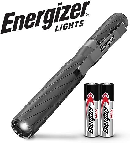 Linterna Energizer aluminio Metal LED con 2 pilas AA alcalinas incluidas