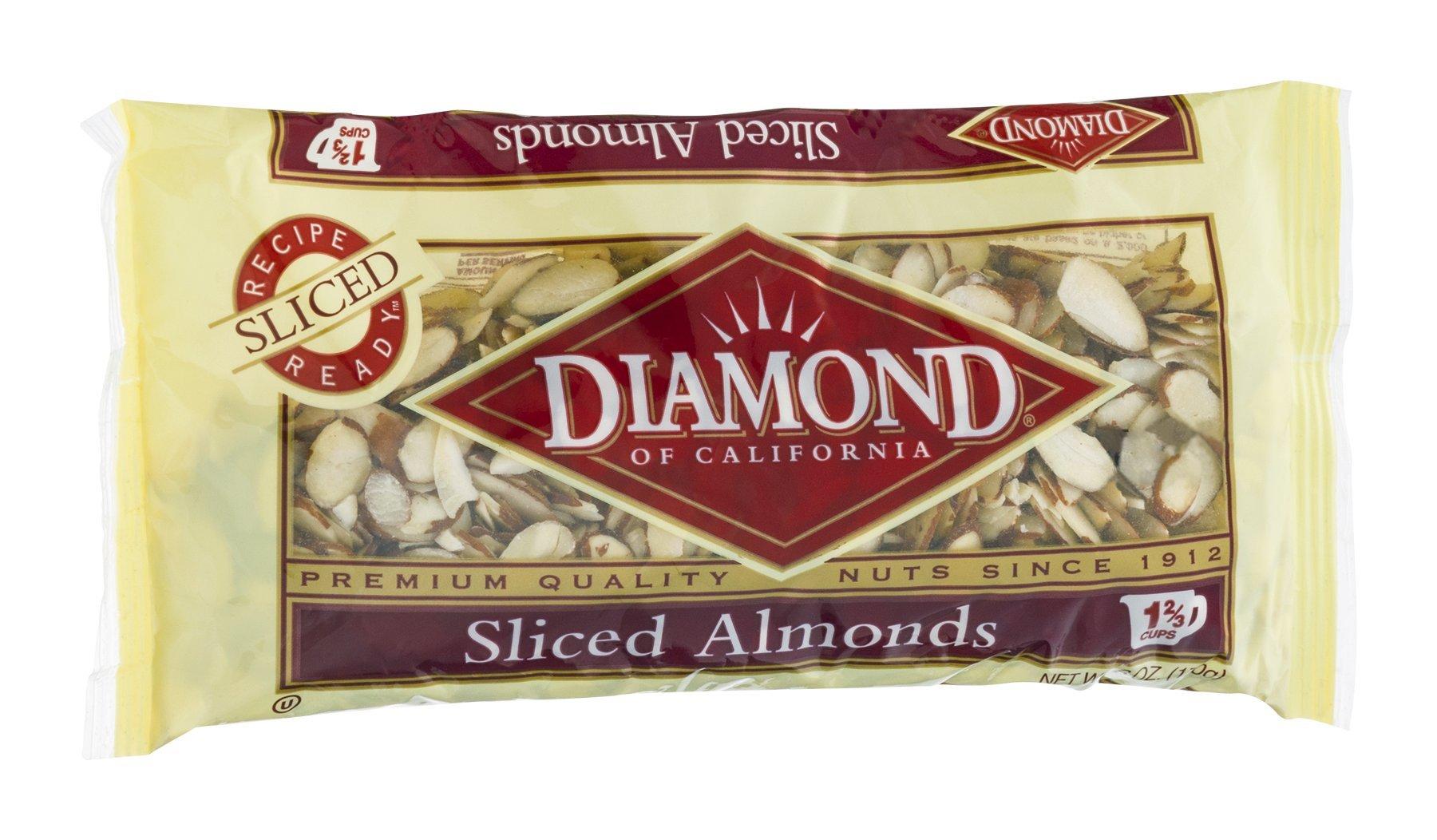 Diamond Sliced Almonds 6 OZ (Pack of 24)