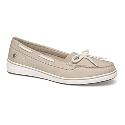 Grasshoppers Women's Augusta Twill Sneaker, Natural, 11 Wide: Sports & Outdoors
