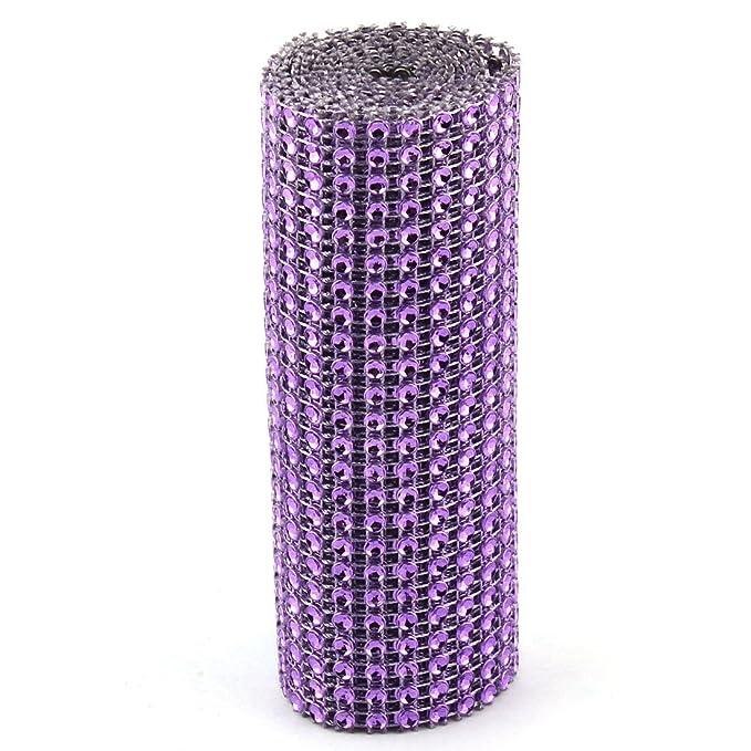 Amazon.com: eDealMax Presidente Fiesta de cumpleaños de plástico de la Tabla Decoración de Cristal de Diamante de la Cinta de Malla DE 1 yarda púrpura: Home ...