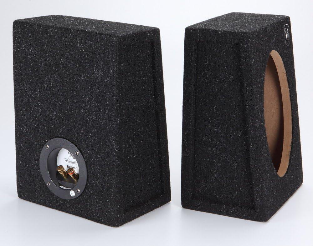 "PAIR 6 X 9 BOX ENCLOSURES CAR AUDIO SPEAKERS 6X9/"" Angled//Wedge THICK REAL CARPET"