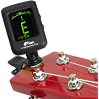Tiger Chromatic Guitar Tuner - Easy to Use Highly Accurate Clip-on Tuner - Suitable for Guitar/Bass / Violin/Ukulele - Battery Included