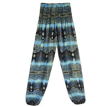 9d34bb57e8e8 Brezeh Women Yoga Pants Unisex Loose Pants Trousers Summer Boho High Waist  Casual Yoga Pants Leggings