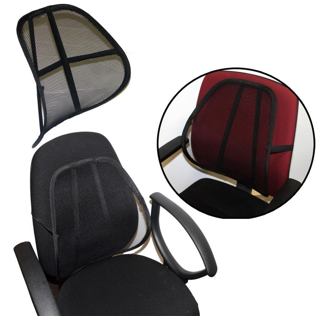 Best Sit Right Comfort Mesh Office Chair Seat Lumbar Back Support Cushion Silver