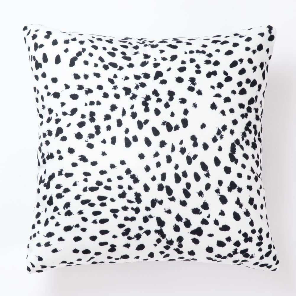 Pantaknot Set of 2 Cheetah Decorative Throw Pillow Covers Dalmatian Spots Dog Dots Pillowcase Cushion Home Décor, 18 x 18 Inch