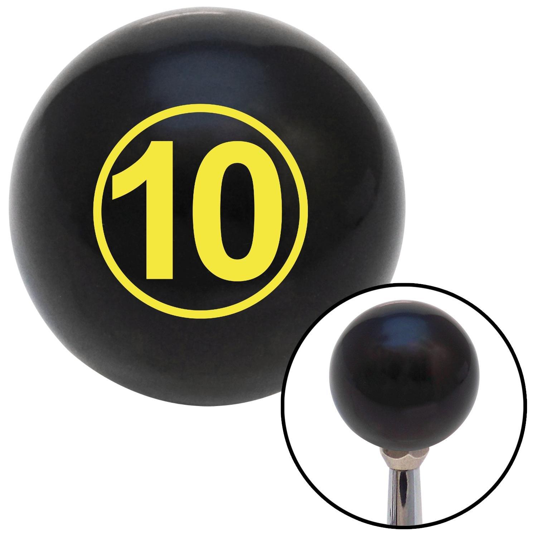 Yellow Ball #10 American Shifter 103828 Black Shift Knob with M16 x 1.5 Insert