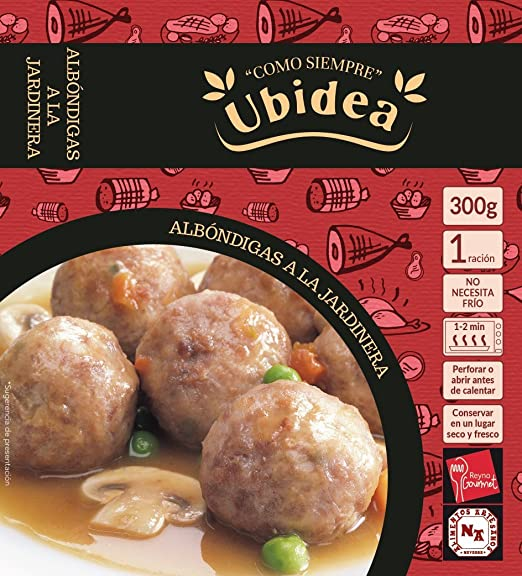 Albóndigas a la Jardinera - Ubidea - 3 platos