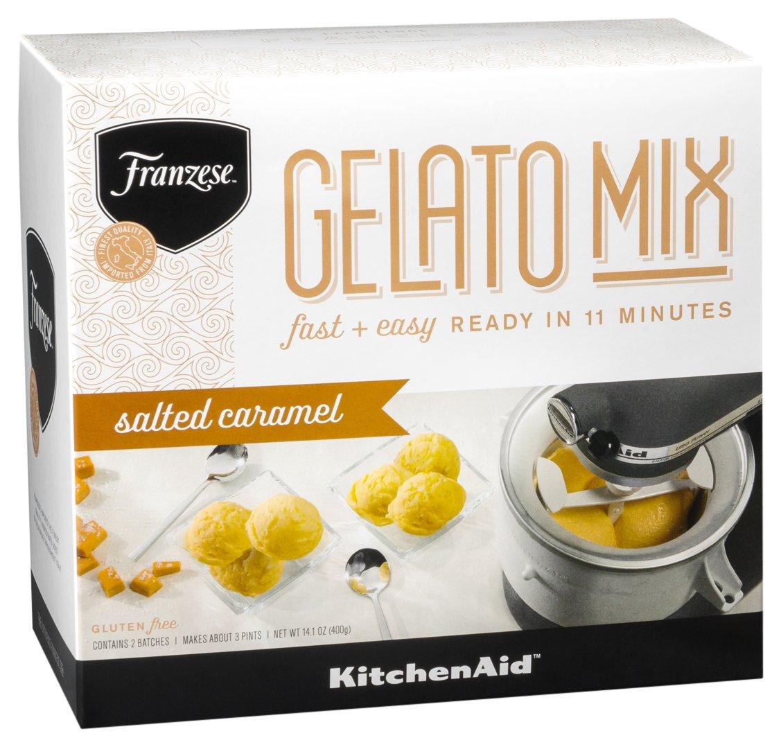 KitchenAid KFMGD14TPSC Franzese Authentic Italian Salted Caramel Gelato Mix (2 Pack), 14.1 oz