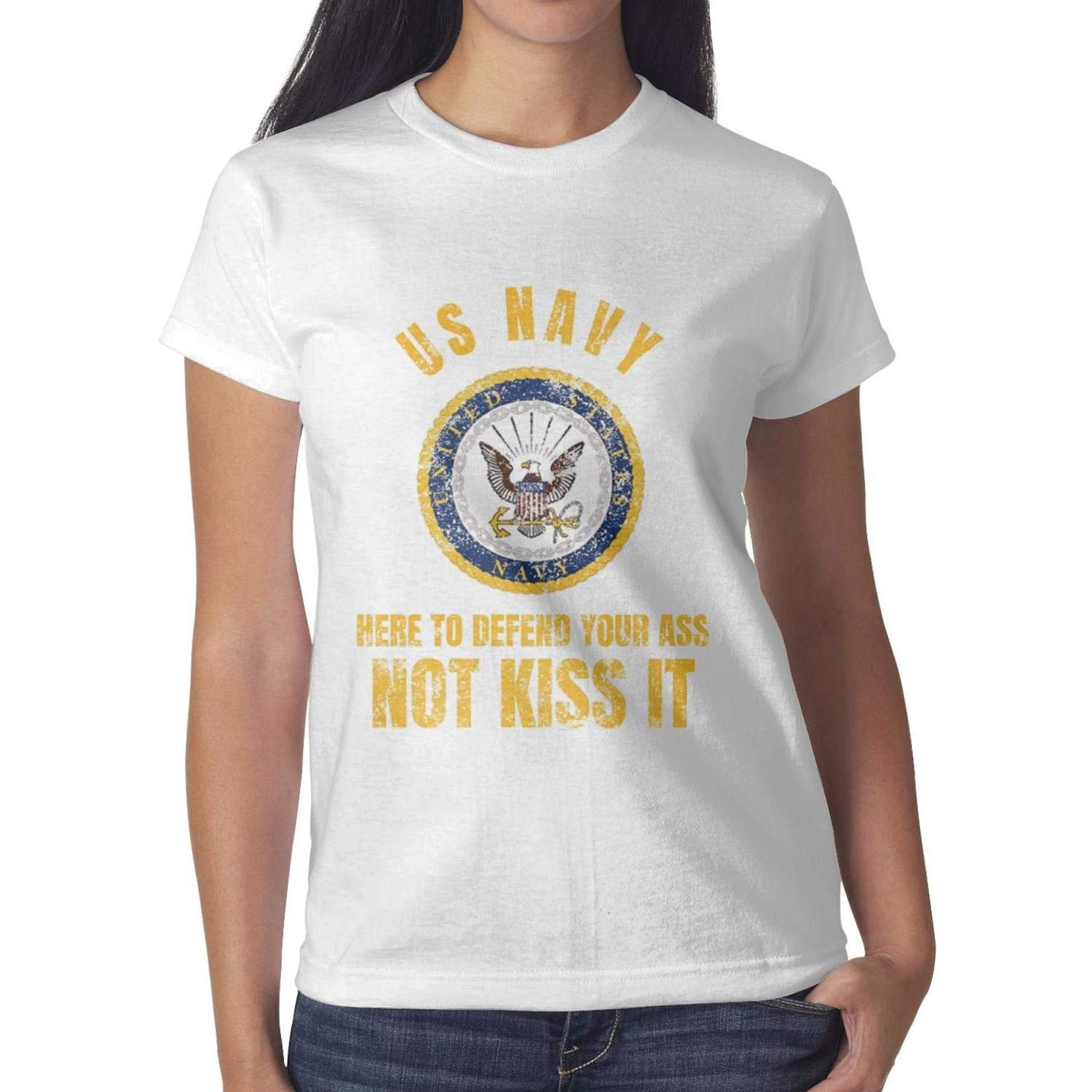 Tee Casual Cable Shirt Girls Tops Us Navy Not Kiss It Washed
