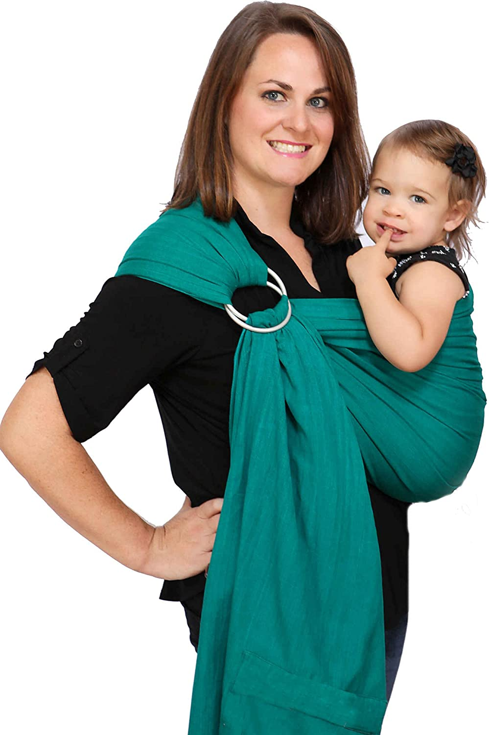 Maya Wrap Lightly Padded Ring Sling - Emerald - Medium