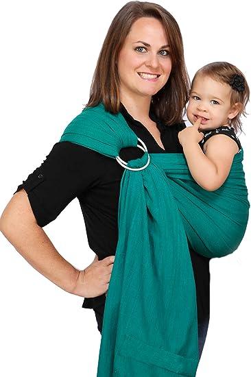 7ad3537e1a6 Amazon.com   Maya Wrap Lightly Padded Ring Sling - Emerald - Medium   Baby