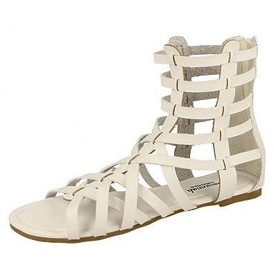 Savannah Damen Aztec Gladiator-Sandale (37 EU) (Weiß)