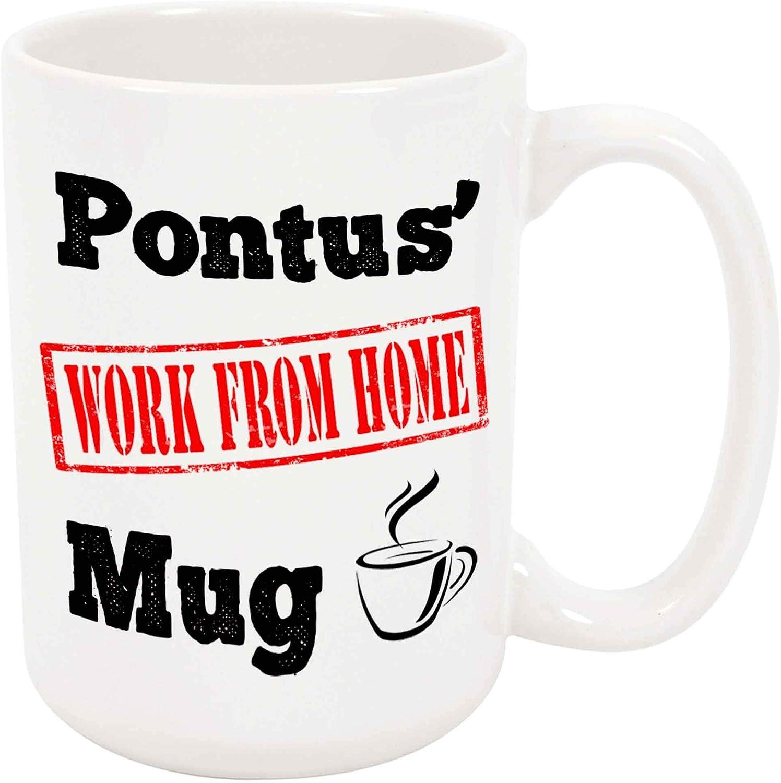 Amazon Com Pontus Work From Home Coffee Mug Wfh Present Kitchen Dining