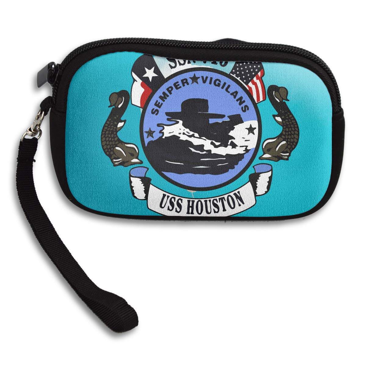 USS HOUSTON Deluxe Printing Small Purse Portable Receiving Bag