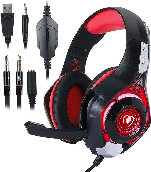 Auriculares Para Juegos de PC PS4, ohCome 3.5 mm Gaming Headset ...