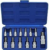 """ABN Metric Allen Wrench Set, 13pc Hex Bit Set – 1/4"""" Dr 2-6mm, 3/8"""" Dr 7-12mm, 1/2"""" Dr 14mm Allen Socket Set Tool Kit"""