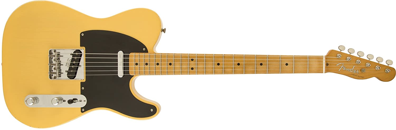 Fender 0131212303 Road Worn 50s Telecaster - Guitarra eléctrica para diapasón de arce, Sunburst-P: Amazon.es: Instrumentos musicales