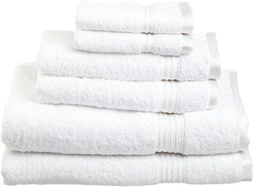 Superior Juego de Toallas de algodón Egipcio de 6 Piezas: Amazon ...
