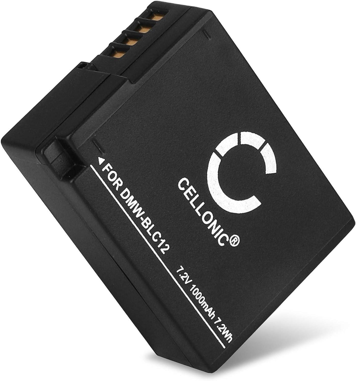 CELLONIC® Batería Compatible con Panasonic Lumix DMC-FZ1000 DMC-FZ200 DMC-FZ2000 DMC-FZ300 DMC-G5 DMC-G6 DMC-G7 DMC-G70 DMC-G81 DMC-GH2 DMC-GX8, DMW-BLC12 DMW-BLC12E 1000mAh bateria Repuesto Pila