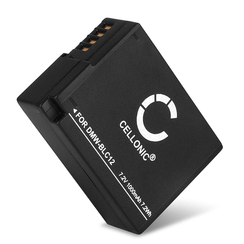 TALLA 1x 1000mAh. CELLONIC® Batería Compatible con Panasonic Lumix DMC-FZ1000 DMC-FZ200 DMC-FZ2000 DMC-FZ300 DMC-G5 DMC-G6 DMC-G7 DMC-G70 DMC-G81 DMC-GH2 DMC-GX8, DMW-BLC12 DMW-BLC12E 1000mAh bateria Repuesto Pila
