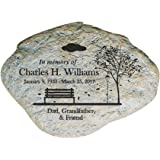 Amazon giftsforyounow engraved memorial garden stone 11 w giftsforyounow empty bench personalized memorial garden stone workwithnaturefo