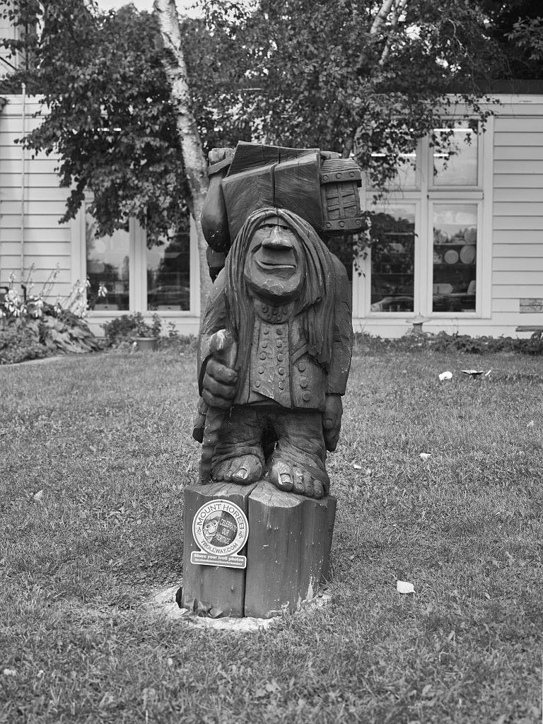 Amazon com: 18 x 24 B&W Photo of A wizened troll figure in