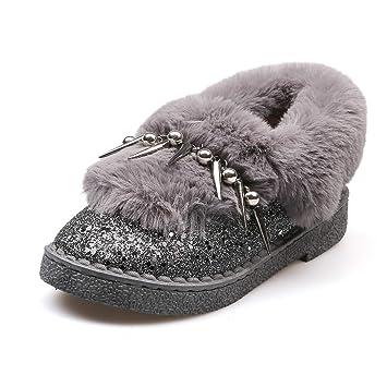 CJJC Botas para la Nieve de Moda otoño Invierno para Mujer Espesar cálidos Botines de Bloque