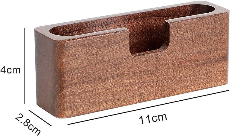 mesa Rectangle soporte para tarjetas de visita para oficina tarjetas de visita Tarjetero de madera para tarjetas de visita de escritorio Yosco