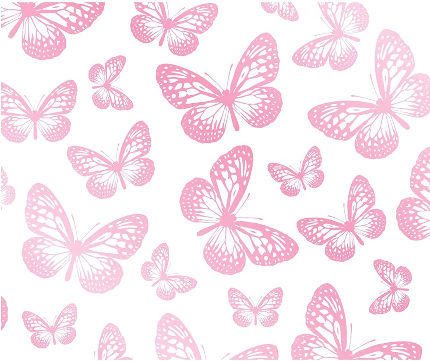 Butterfly Wallpaper White And Pink Fd40275 Amazon Com