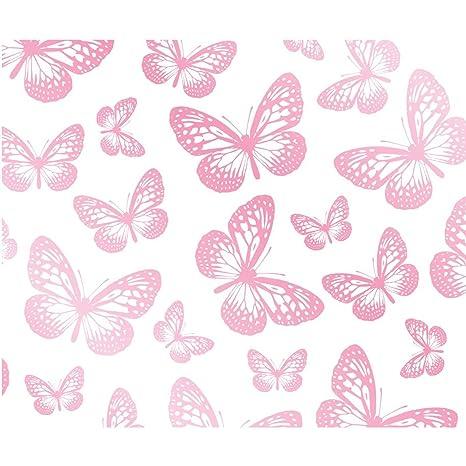 Farfalla Sfondo Bianco E Rosa Fd40275 Amazonit Fai Da Te