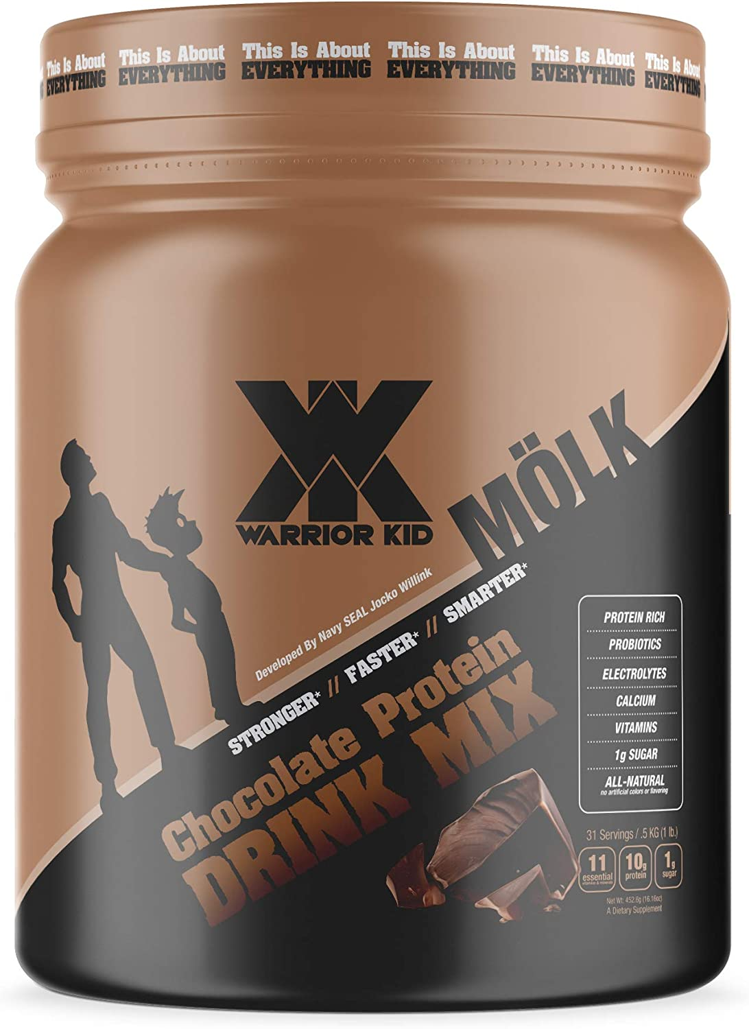 Warrior Kid Chocolate Protein Drink Mix 1 Pound