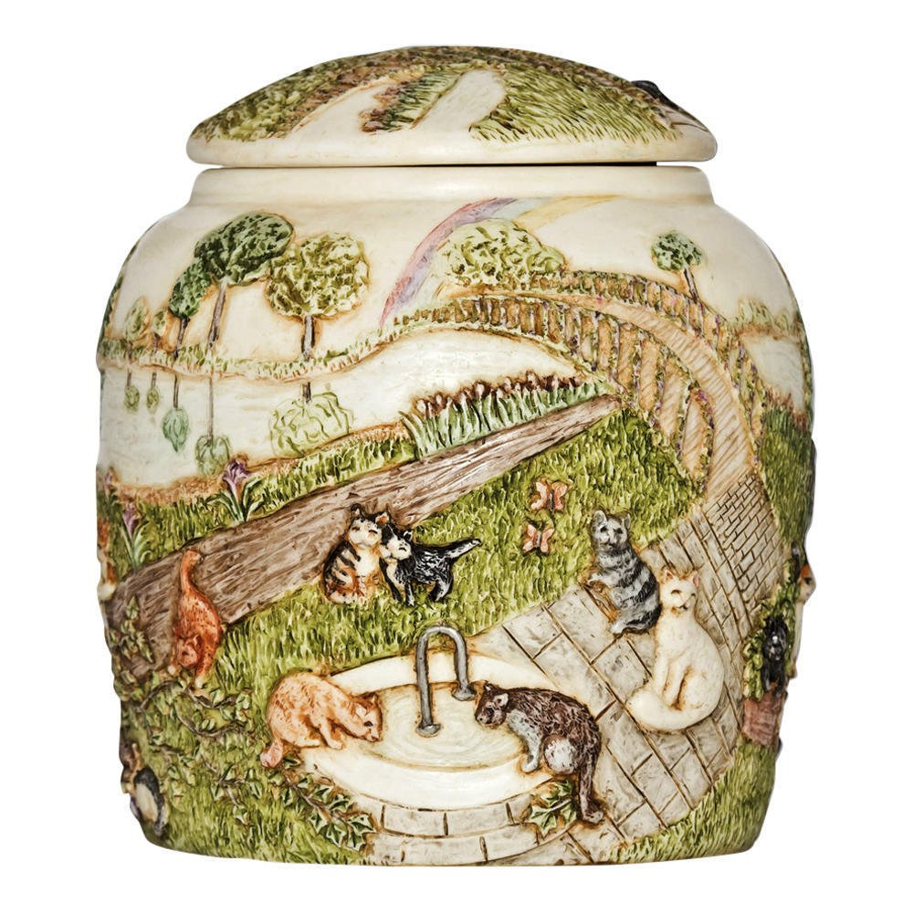 Perfect Memorials Cat Rainbow Bridge III Pet Cremation Urn by Perfect Memorials