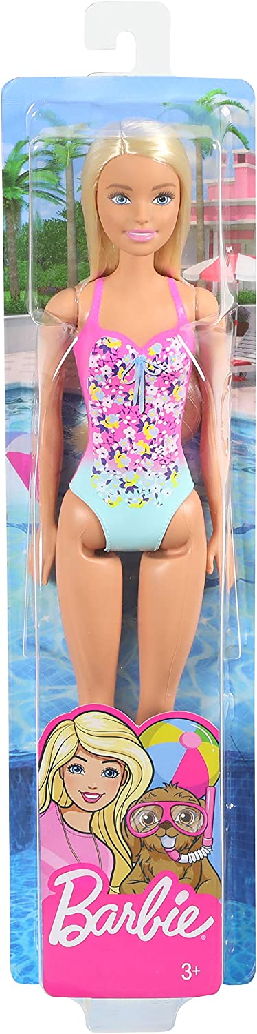 Blonde for Kids 3 to 7 Years Old Wearing Swimsuit Barbie Doll Model:GHW37