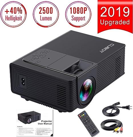 CUBOT (2018) Mini Beamer, Video Beamer apoya 1080P Full HD, 3000:1 ...
