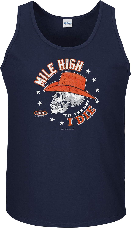 Navy T-Shirt Sm-5X Mile High Til The Day I Die Smack Apparel Denver Football Fans
