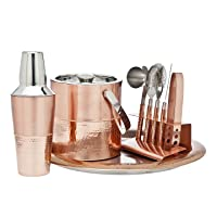 Deals on Godinger Copper 9 Piece Barware Set
