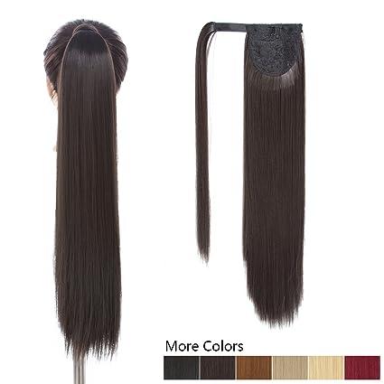 26 Inch Long Ponytail Hair Extension Dark