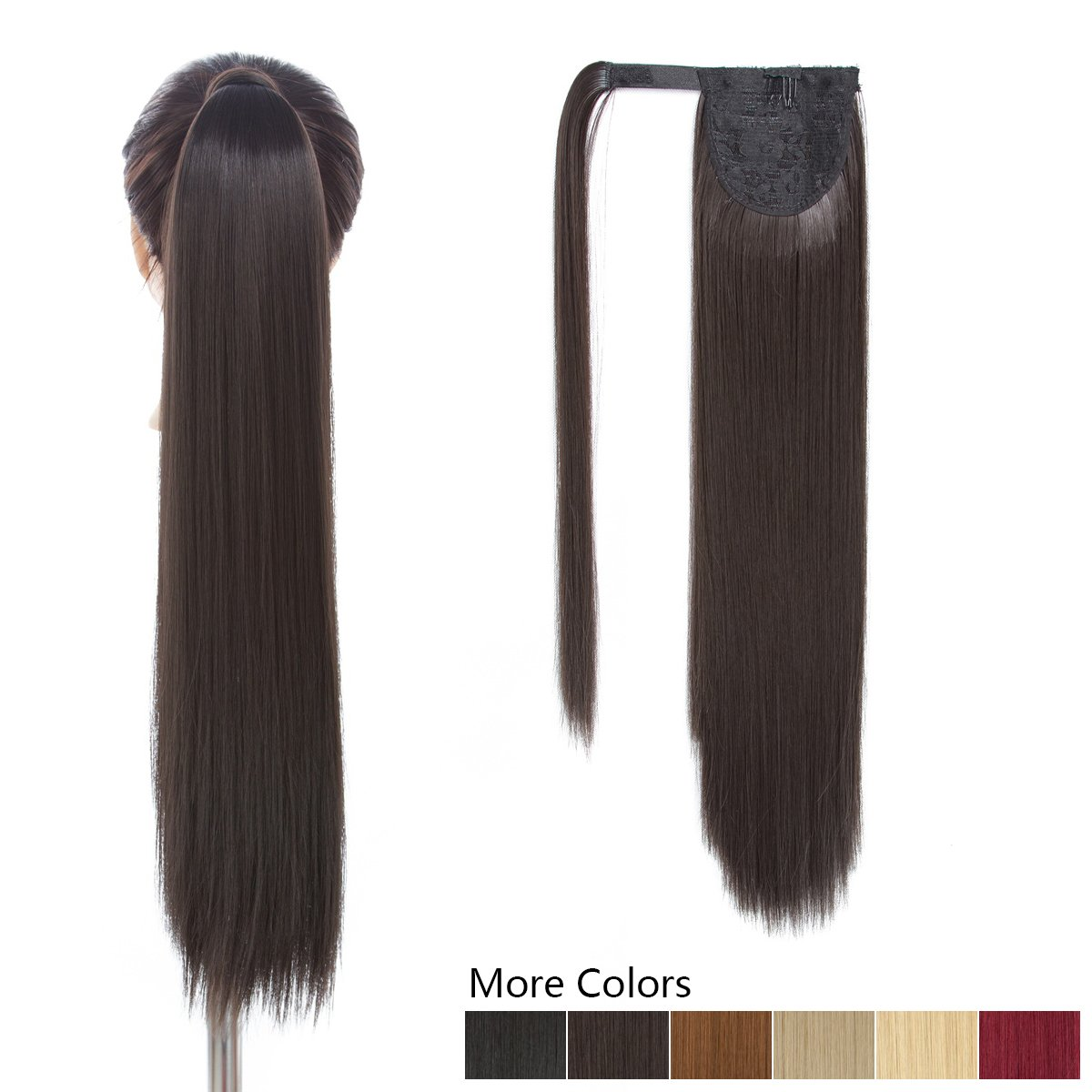 Amazon 26 Long Ponytail Hair Extension Brown One Piece