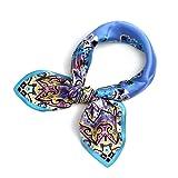 (ズイェ)ZUYEE レディース スカーフ シルク 正方形 ネッカチーフ オフィススカーフ