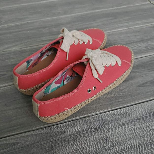 XHCHE Damen Espadrilles Autumn Lace Up Vulcanize Schuhe Bequeme runde Zehen Canvas Schuhe Damen High-Top Sneakers