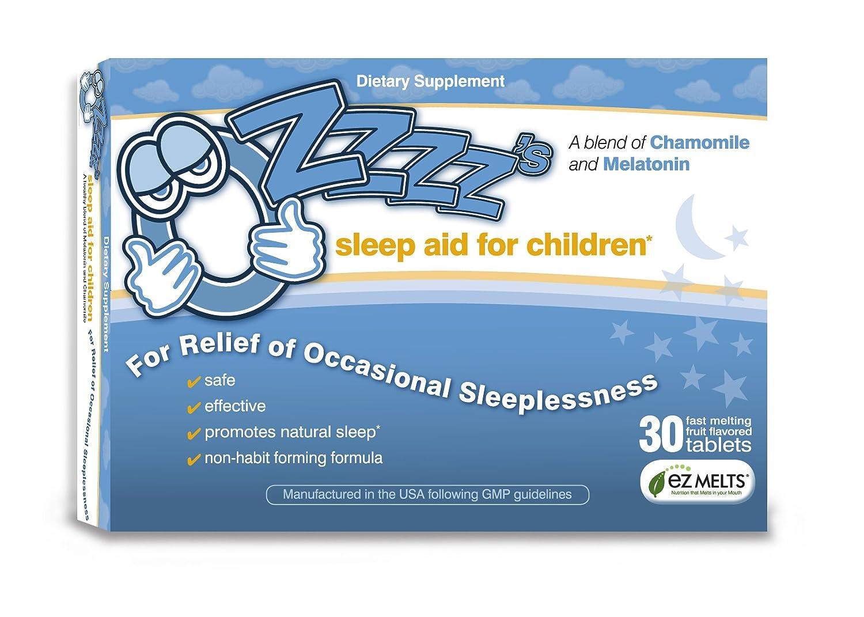 Amazon com: OZzzz's Sleep Aid for Children-30 Fruit Flavored