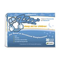 OZzzz's Sleep Aid for Children, Zero Sugar, Vegan, Pediatrician Formulated, 30 Fruit Flavored EZ Melt Tablets