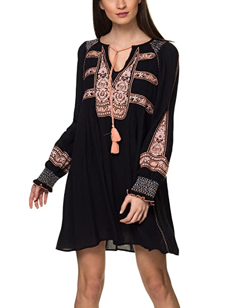 343c660541836 Free People Women's Wind Willow Mini Dress Black in Size S at Amazon ...