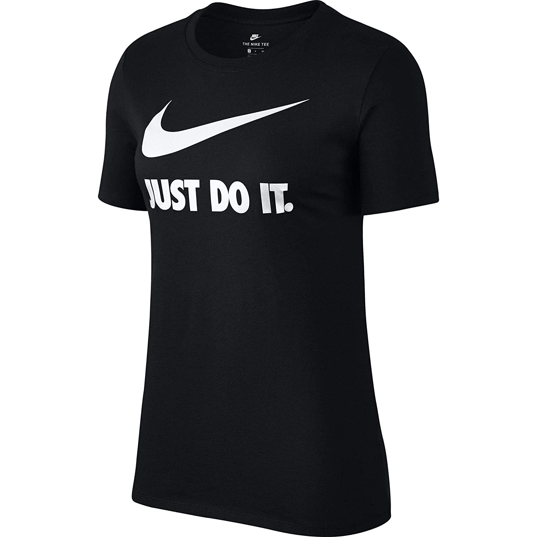 0ee9a9e9 Amazon.com: Nike Womens Just Do It Logo Print Short Sleeves Slogan T-Shirt:  Sports & Outdoors