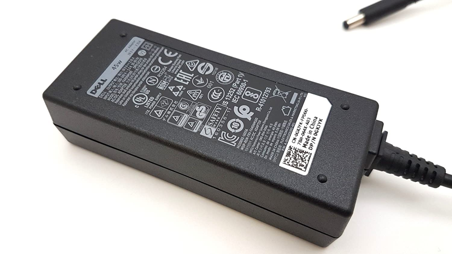 13 (9343) DELL XPS Power Unit 45w Charger Adapter Charger 45w 19.5V 2.31A, [Importado de UK] 0fadd7